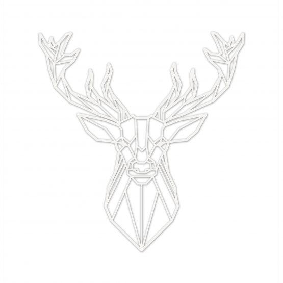 jeleń geometryczny biały