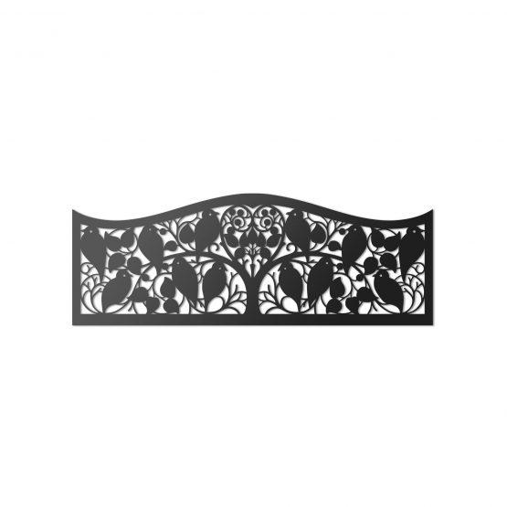 Ażurowy zagłówek dekoracyjny 3D, panel ścienny - PTAKI