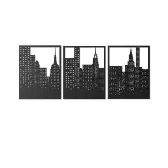 Miasto nocą - dekoracja ścienna 3D, CITY