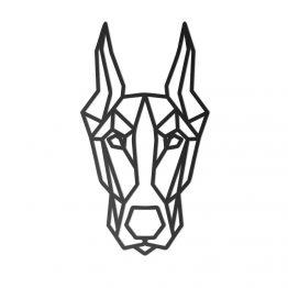 Ozdoba Geometryczna 3D Doberman XL