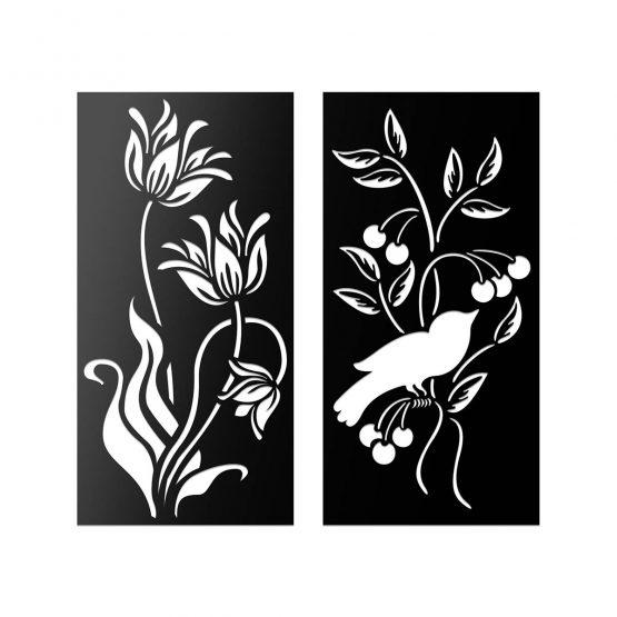 Japońskie wzory - dekoracja ścienna 2 części