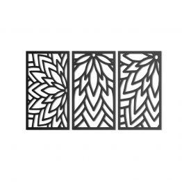 Kwiat Lotosu - dekoracja ścienna 3D tryptyk