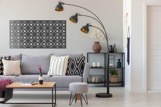 Orient Panel ażurowy na ścianę - 3D antyracyt