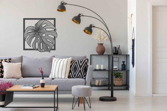 liść palmy monstera - antracyt