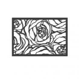 Róże - Ażurowy panel dekoracyjny 3D na ścianę