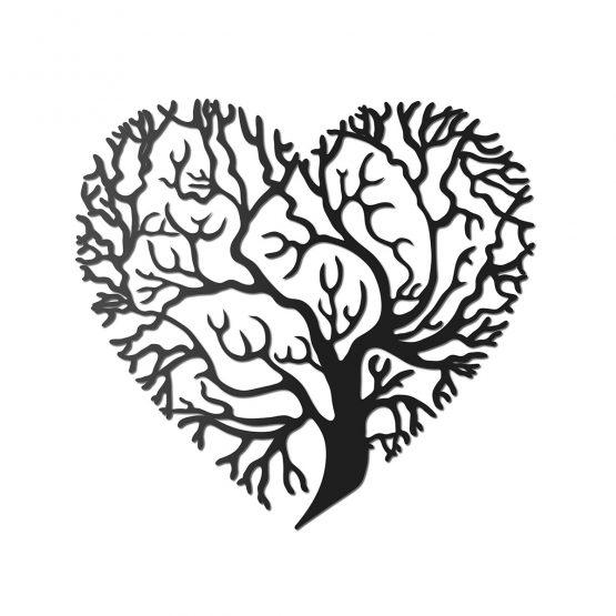 Drzewo miłości - Ażurowa dekoracja ścienna
