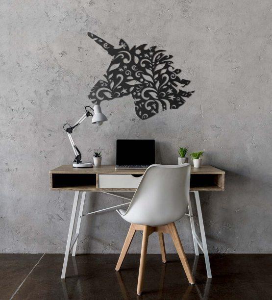 Jednorożec dekoracja na ścianę 3D