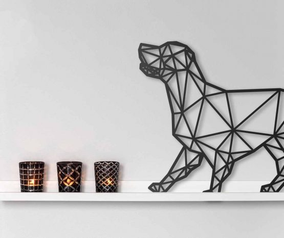Geometryczny Pies - Labrador, Golden Retriever M