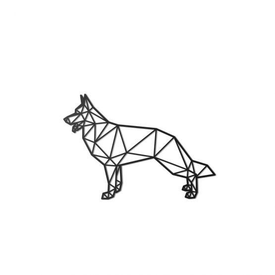 Geometryczny Pies - Owczarek Niemiecki M