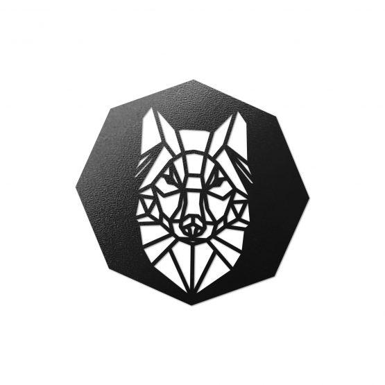 Podkładki pod kubek - geometryczny wilk 4 szt