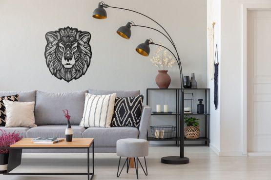 Lew dekoracja ścienna Boho 3D