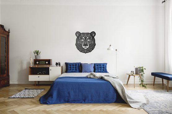 Niedźwiedź dekoracja na ścianę Boho
