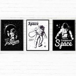 Astronauta zestaw 3 Plakatów