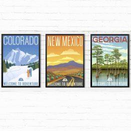 Retro plakaty Stany USA