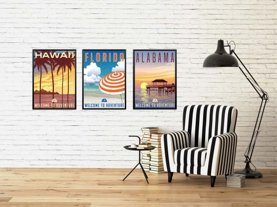 Plakaty Hawaje Floryda Alabama