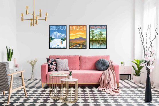 Plakaty Kolorady Nowy Meksyk Georgia