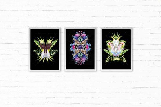 Tropikalne Plakaty zestaw 3 grafik