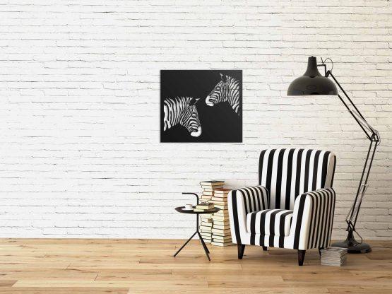 Zebry dekoracja na ścianę 3D