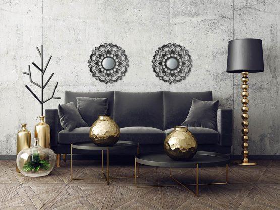 Ażurowa dekoracja ścienna - Mandala