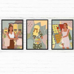 Shopping zestaw 3 plakatów