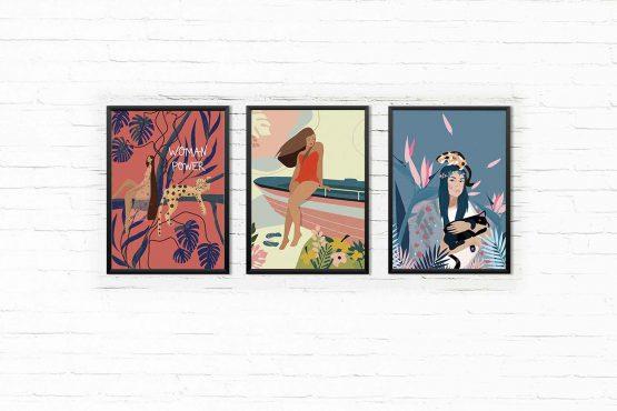 Ladies zestaw 3 plakatów