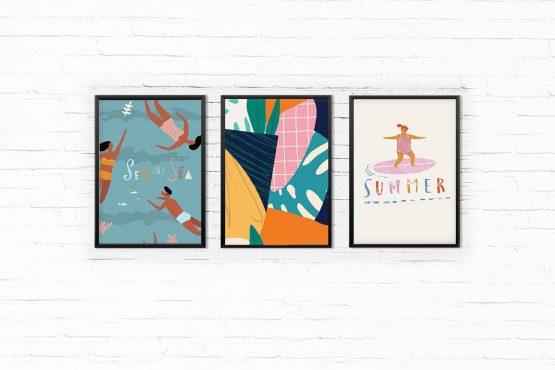 Summer zestaw 3 plakatów