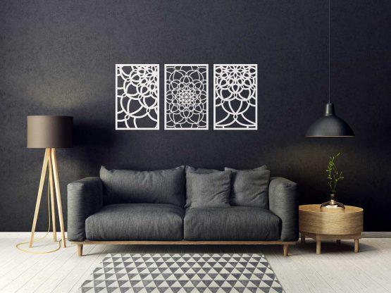 Panel dekoracyjny Mandala tryptyk
