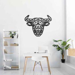 Byk dekoracja geometryczna 3D