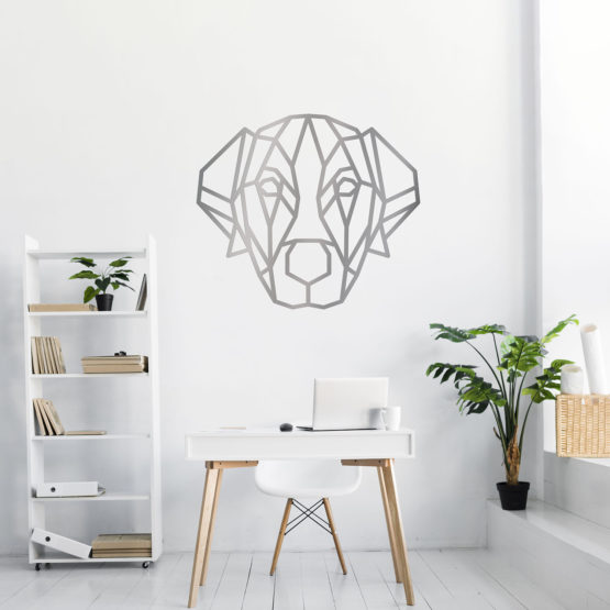 Labrador dekoracja geometryczna 3D