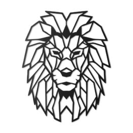 Lew dekoracja geometryczna 3D