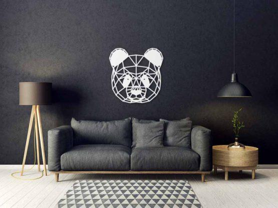 Panda dekoracja geometryczna 3D