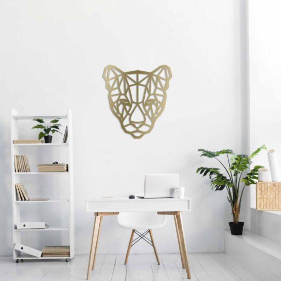 Pantera dekoracja geometryczna 3D
