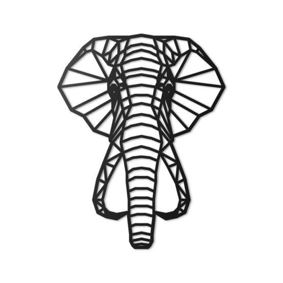 Słoń dekoracja geometryczna 3D
