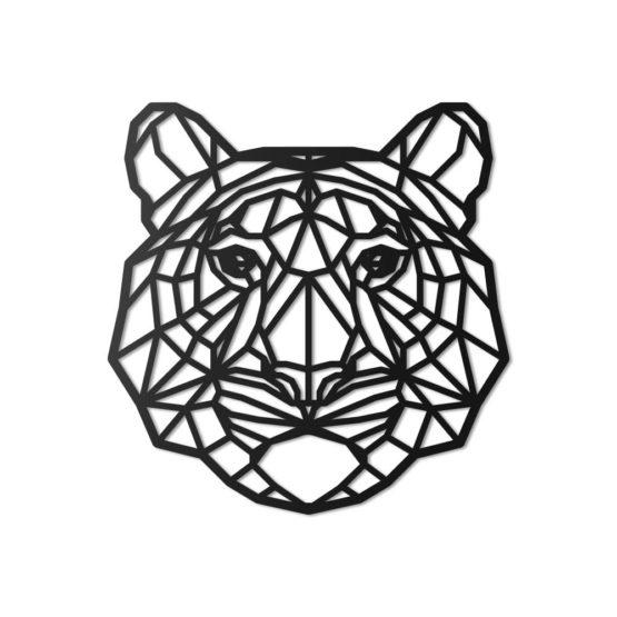 Tygrys dekoracja geometryczna 3D