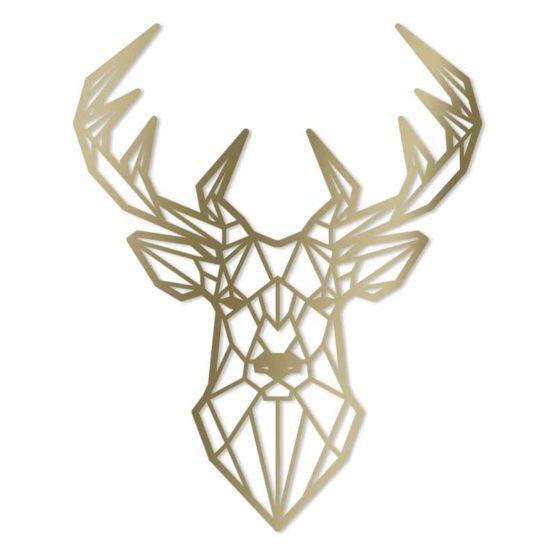 Jeleń dekoracja geometryczna 3D