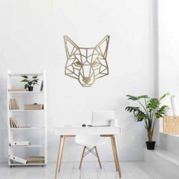 Lis dekoracja geometryczna 3D