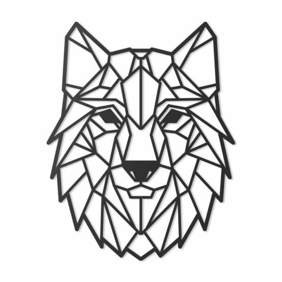 Wilk dekoracja geometryczna 3D
